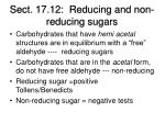 sect 17 12 reducing and non reducing sugars