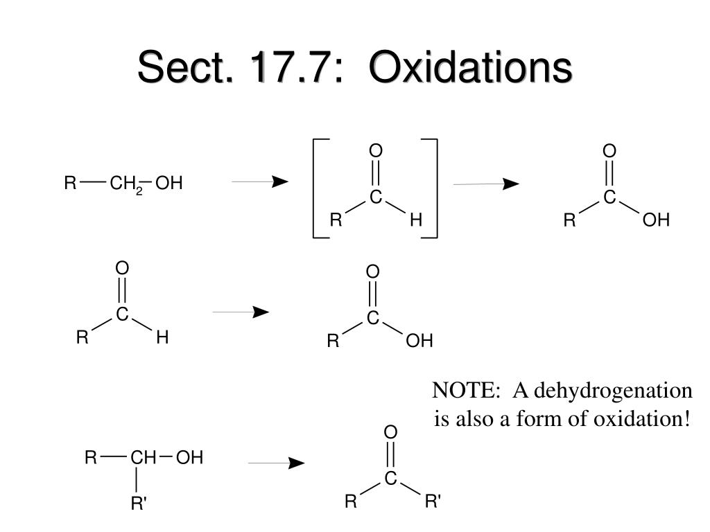 Sect. 17.7:  Oxidations