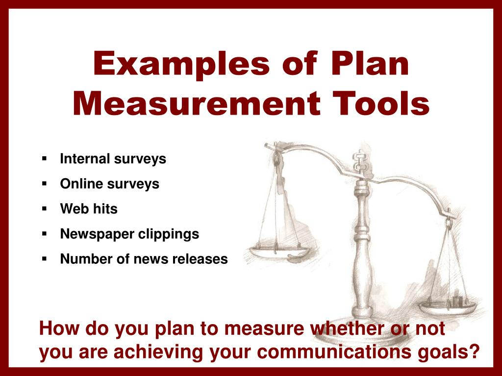 Examples of Plan Measurement Tools