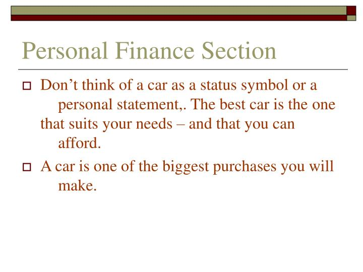 Personal finance section2