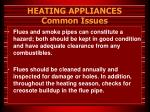 heating appliances common issues40