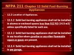 nfpa 211 chapter 12 solid fuel burning appliances