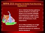 nfpa 211 chapter 12 solid fuel burning appliances33