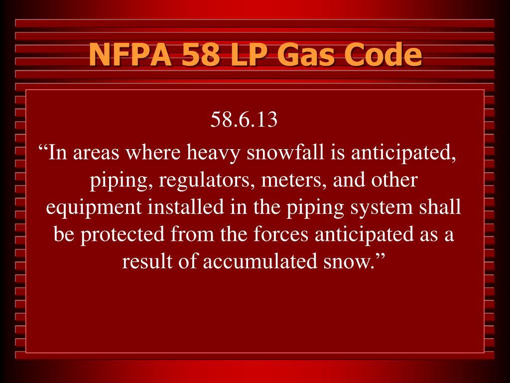 NFPA 58 LP Gas Code