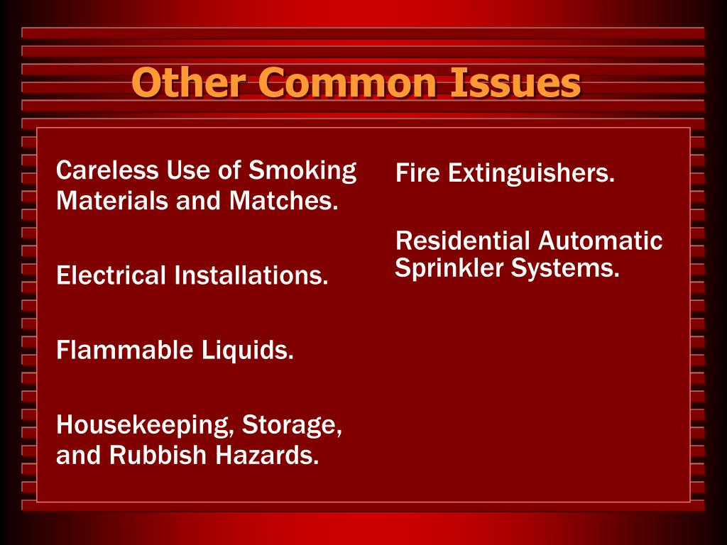 Other Common Issues