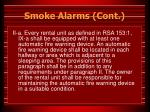 smoke alarms cont