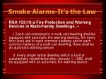 smoke alarms it s the law