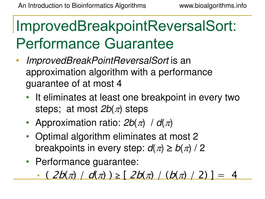 ImprovedBreakpointReversalSort: Performance Guarantee