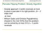 pancake flipping problem greedy algorithm