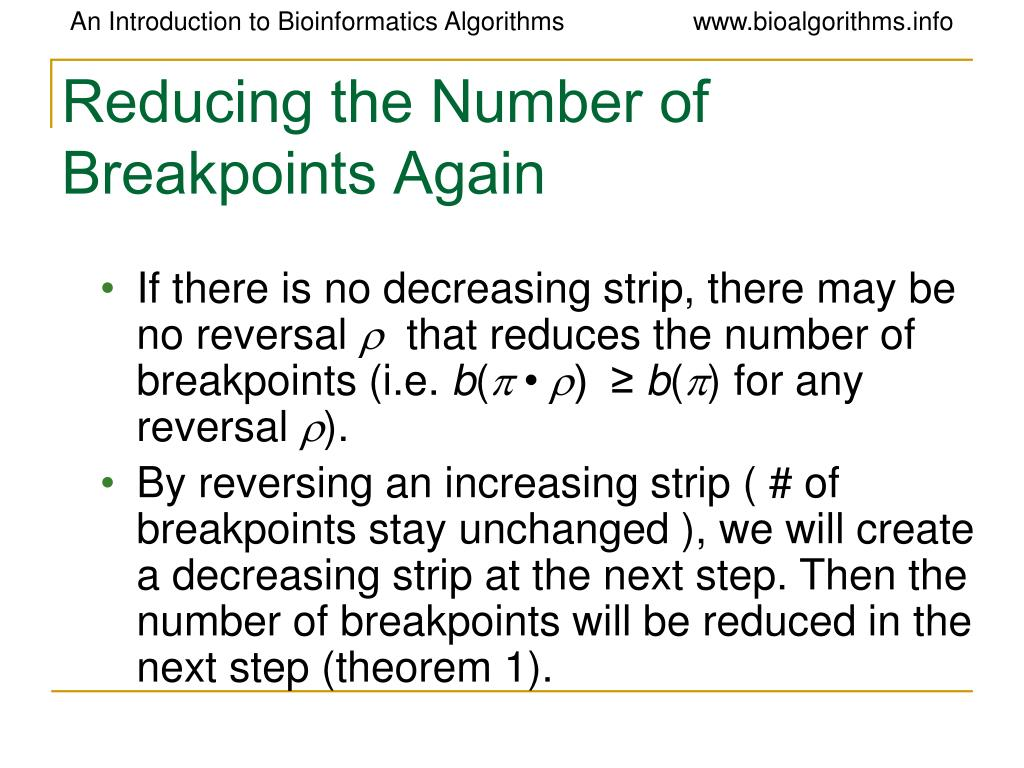 Reducing the Number of Breakpoints Again