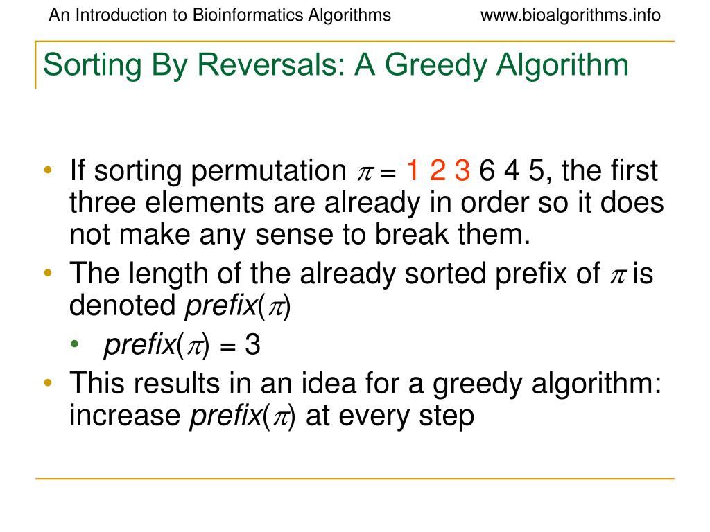 Sorting By Reversals: A Greedy Algorithm