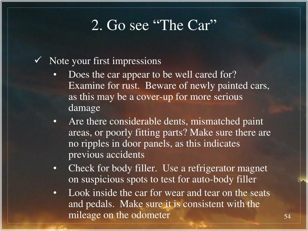"2. Go see ""The Car"""