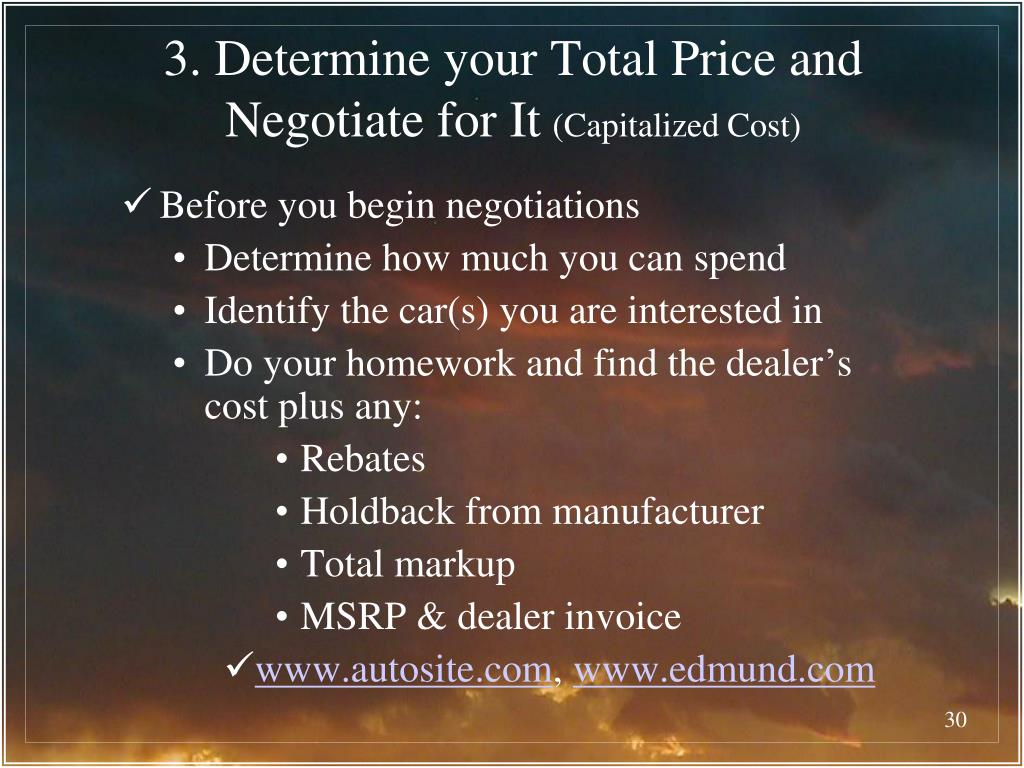 3. Determine your Total Price and Negotiate for It