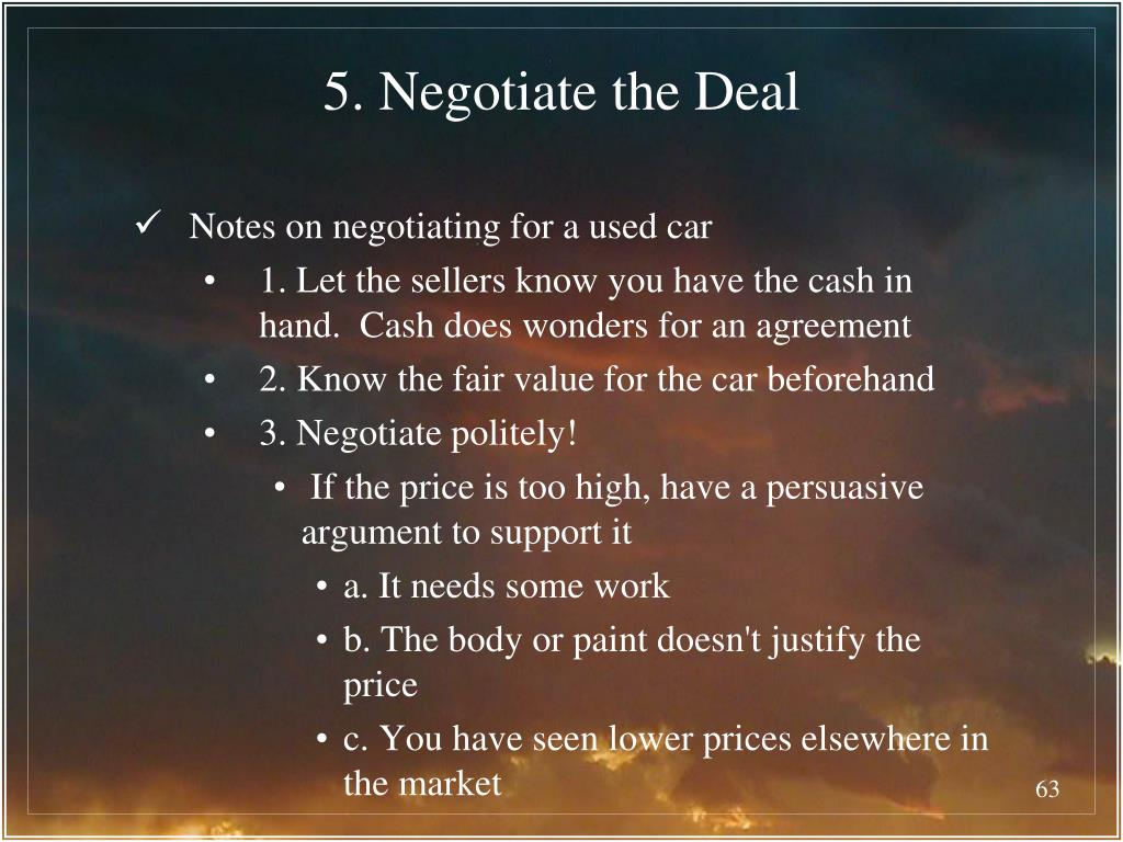 5. Negotiate the Deal