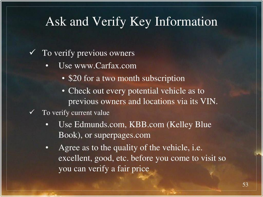 Ask and Verify Key Information