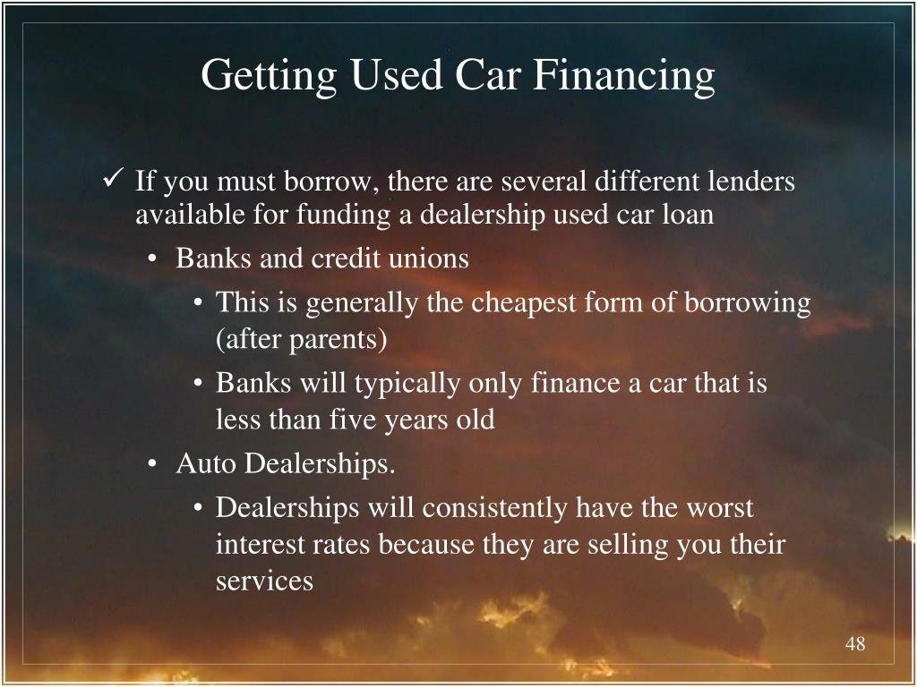 Getting Used Car Financing
