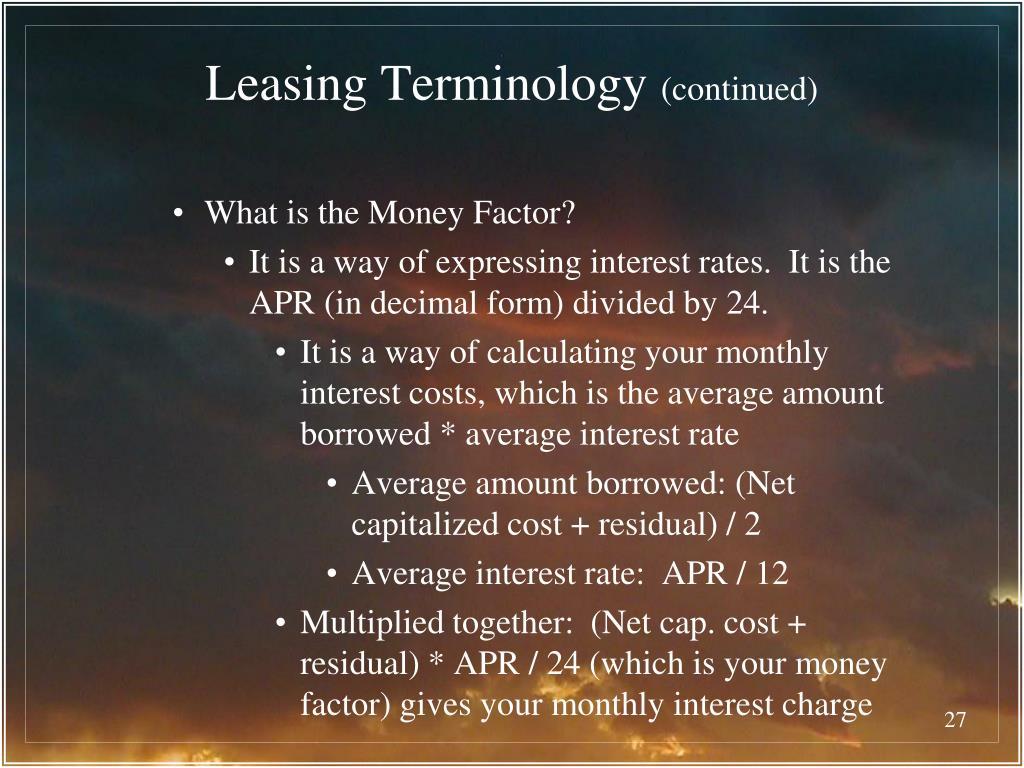 Leasing Terminology