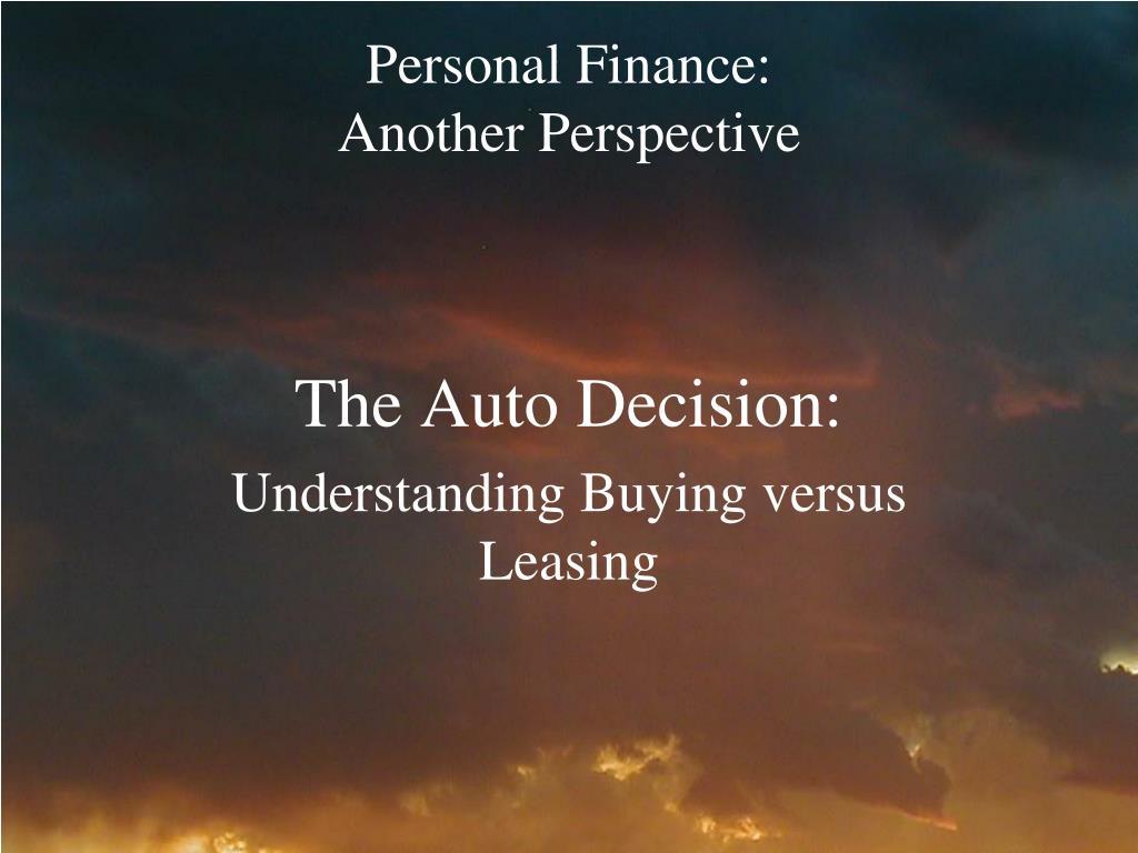 Personal Finance: