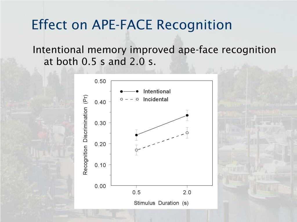 Effect on APE-FACE Recognition