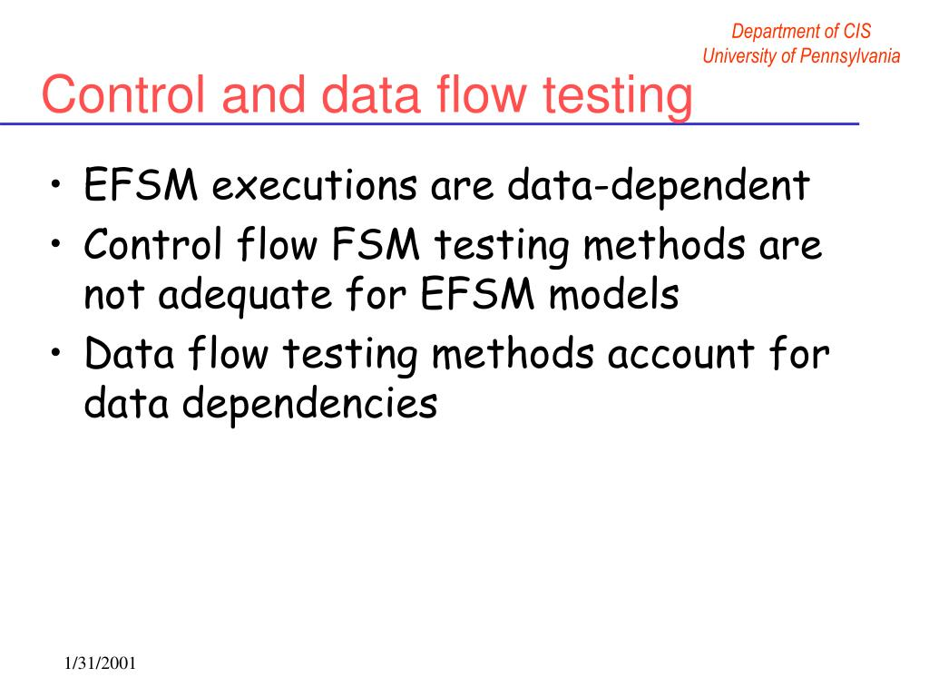 Control and data flow testing