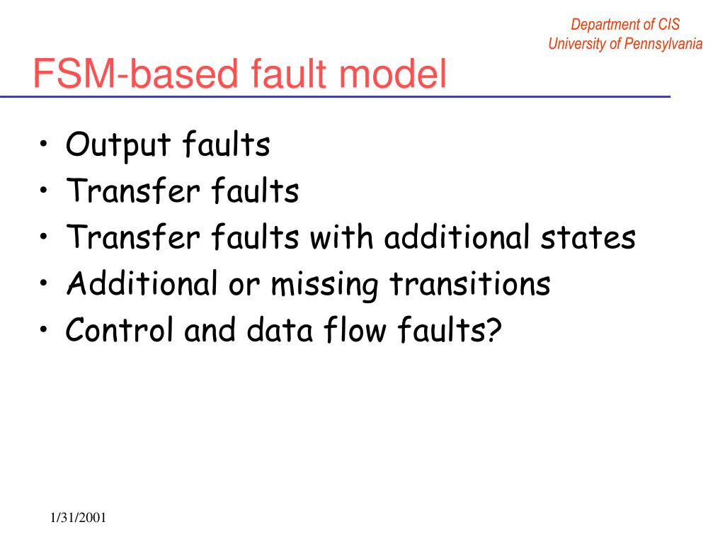 FSM-based fault model