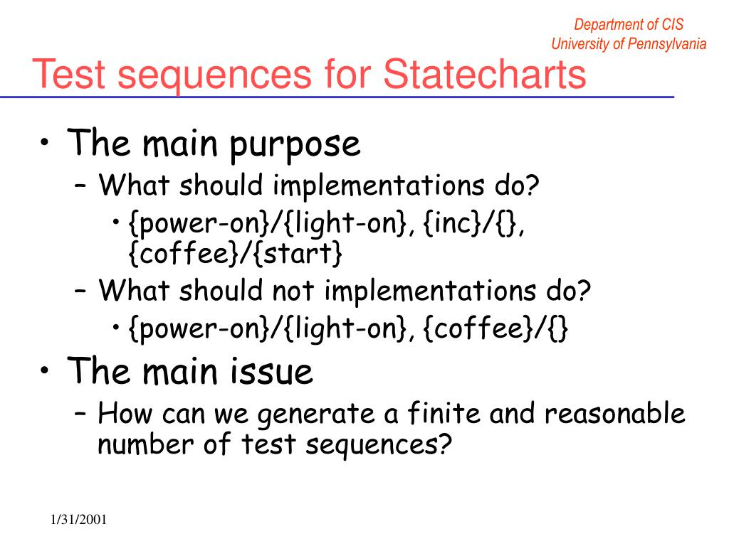 Test sequences for Statecharts
