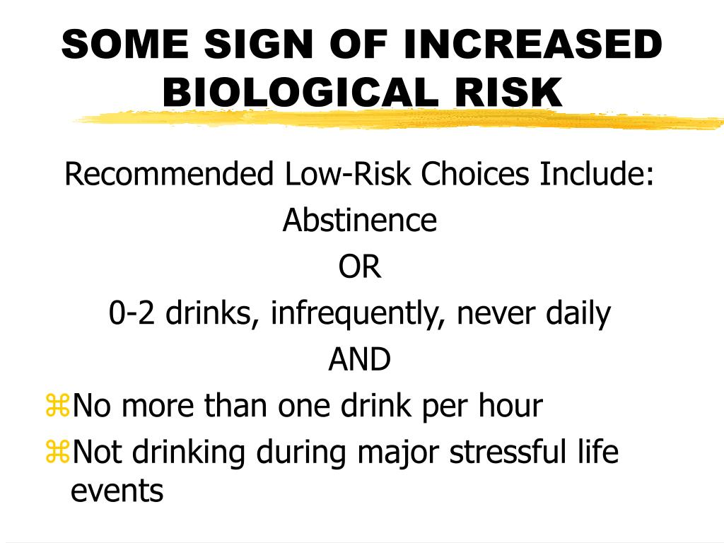 SOME SIGN OF INCREASED BIOLOGICAL RISK