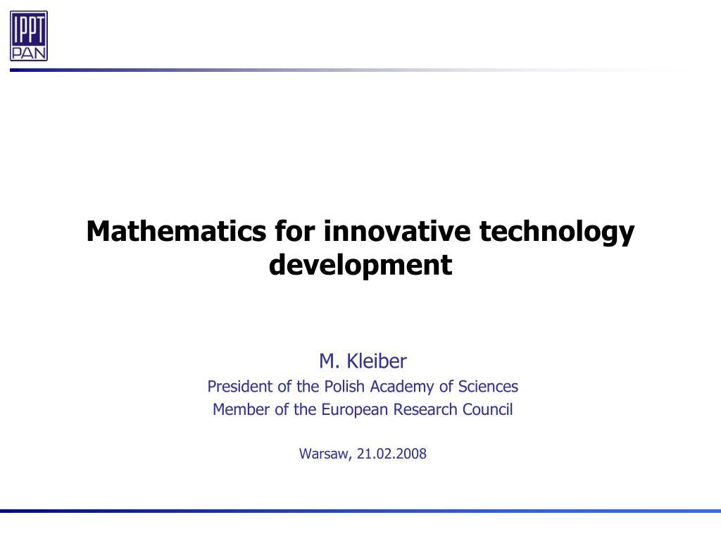 Mathematics for innovative technology development