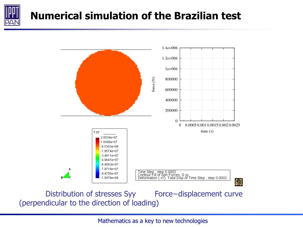 Numerical simulation of the Brazilian test