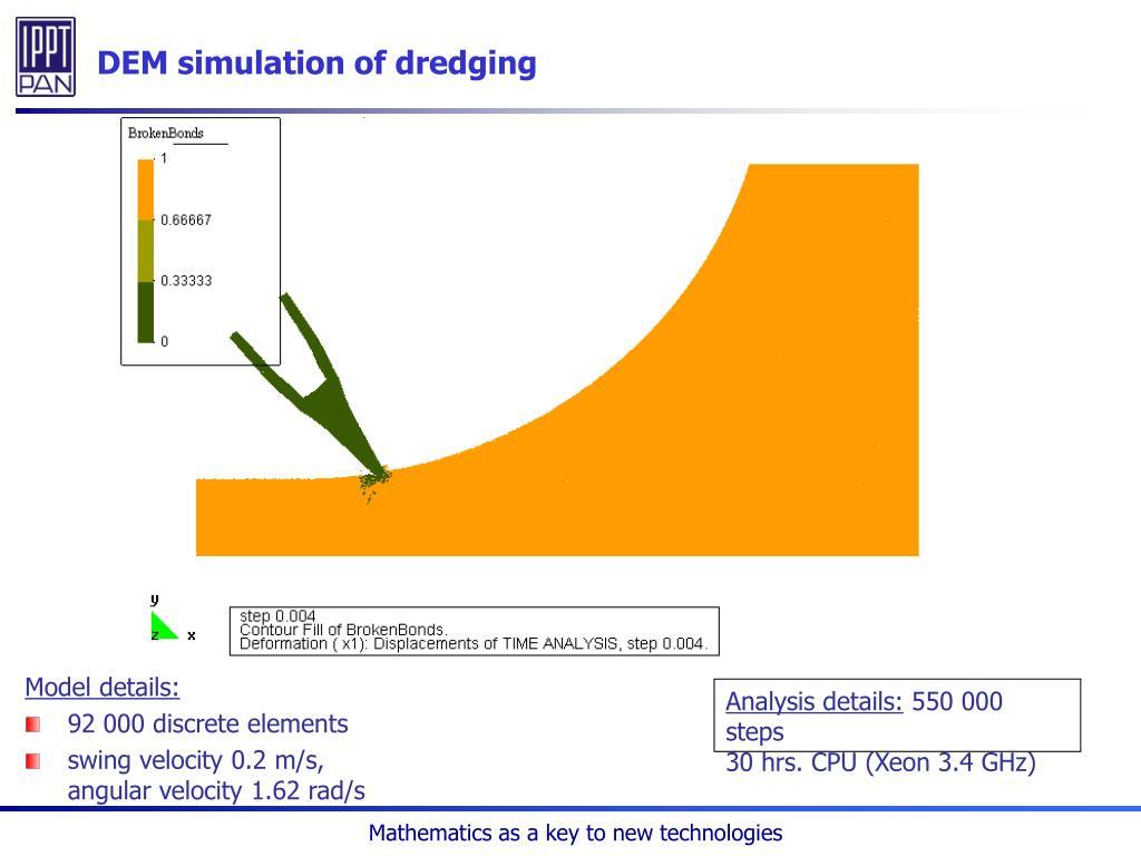 DEM simulation of dredging