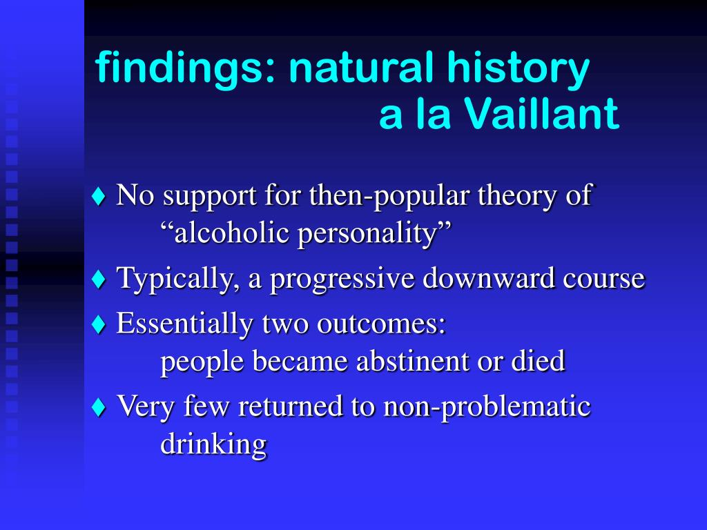 findings: natural history