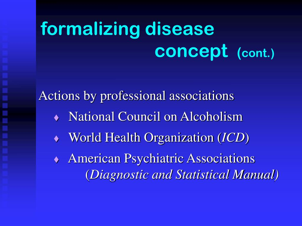 formalizing disease         concept