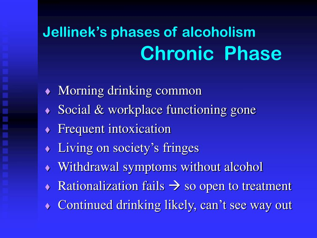 Jellinek's phases of alcoholism