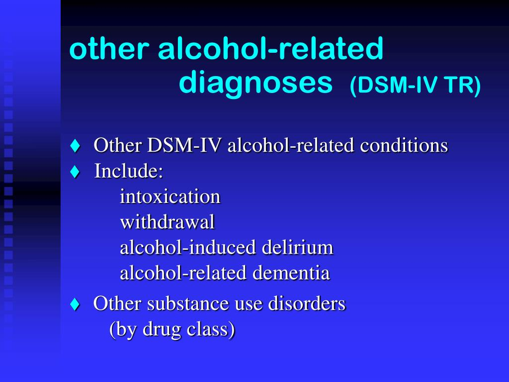 other alcohol-related     diagnoses