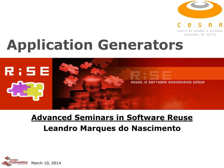 Application generators