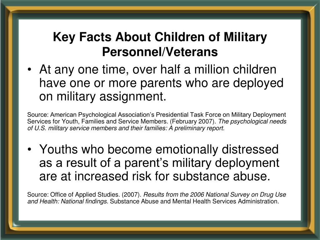 Key Facts About Children of Military Personnel/Veterans