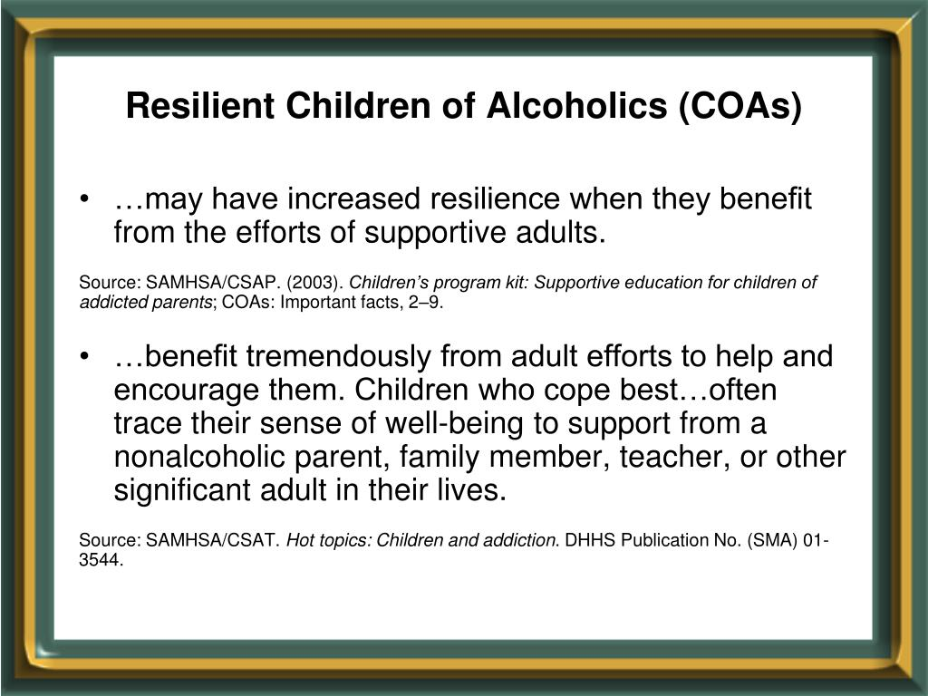 Resilient Children of Alcoholics (COAs)