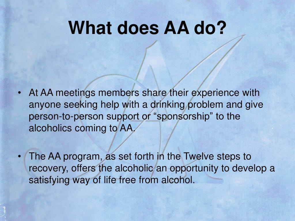What does AA do?