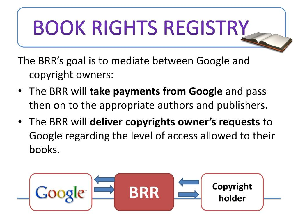 Book rights registry