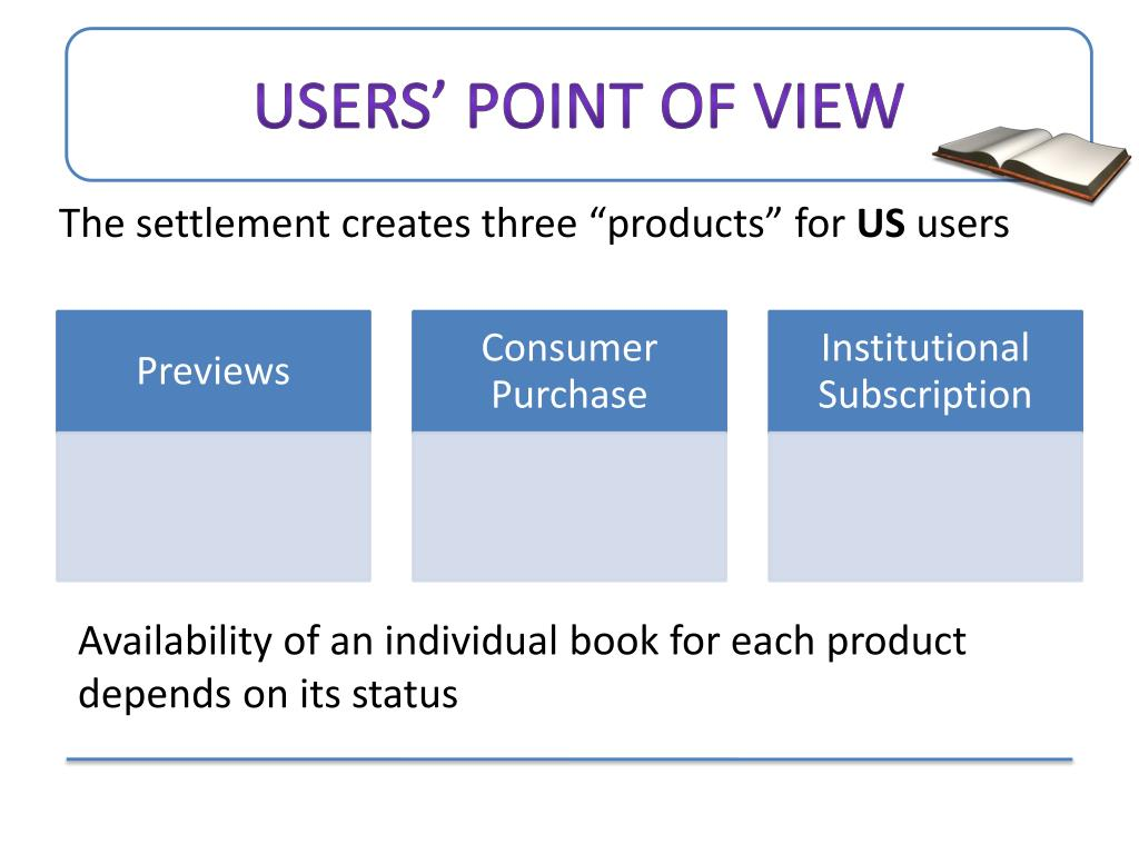 Users' point of view