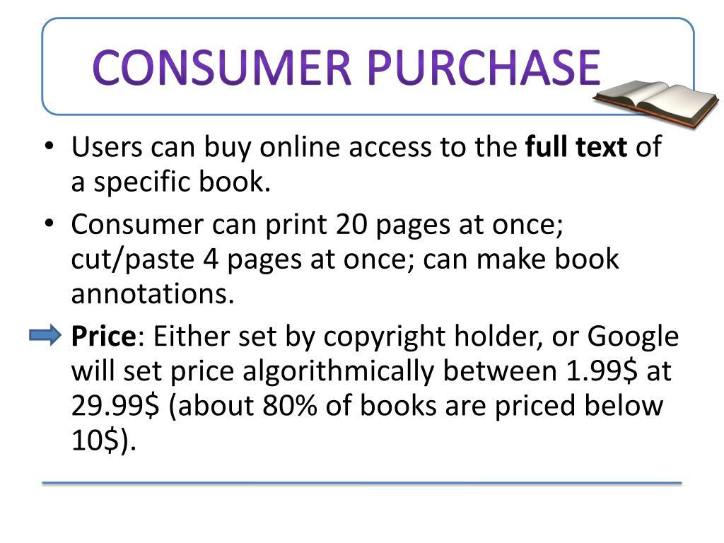 Consumer Purchase
