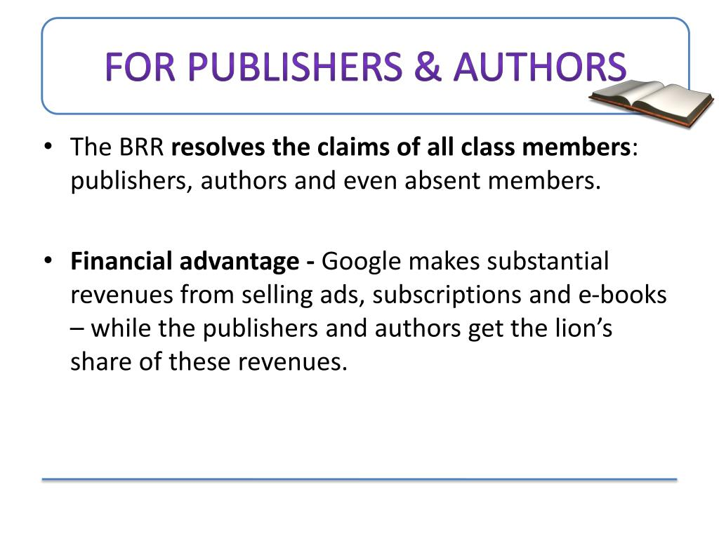 For Publishers & Authors