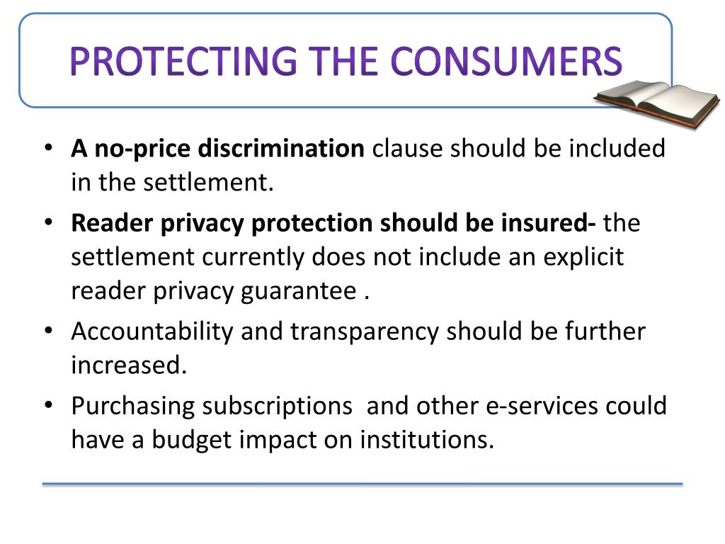Protecting the Consumers