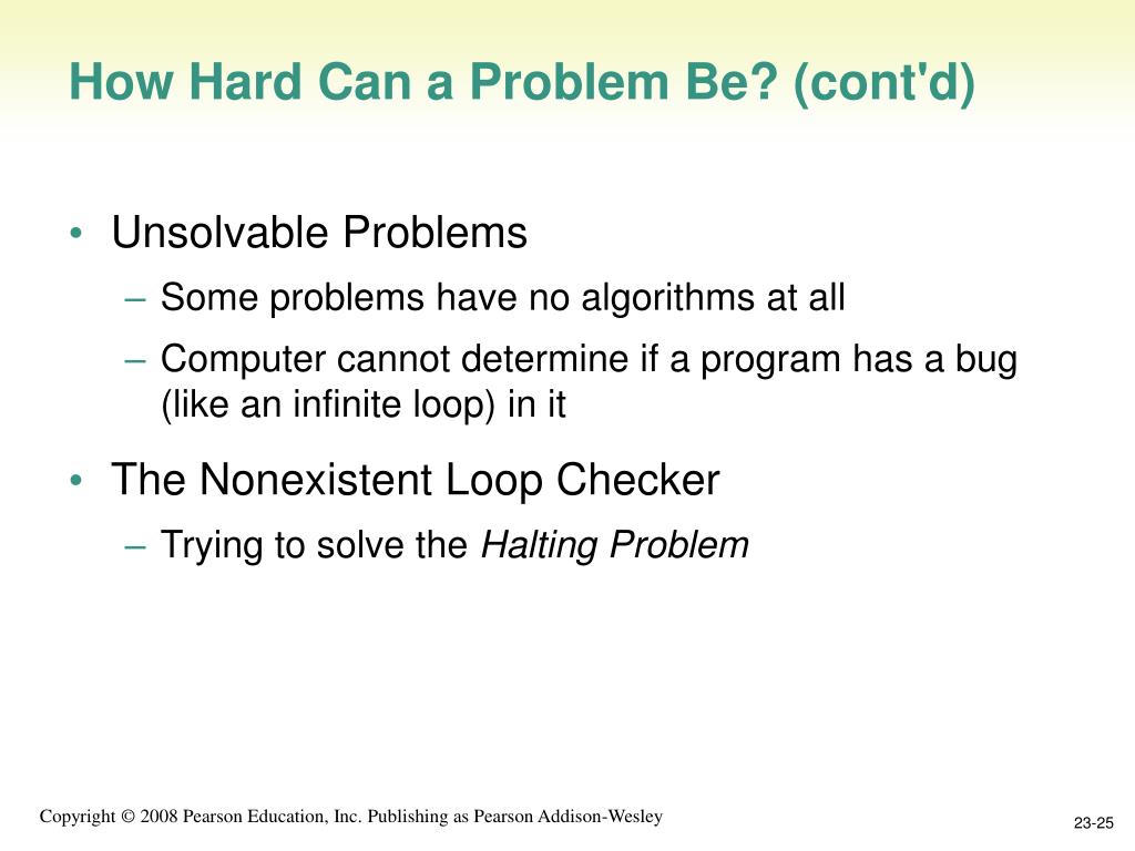 How Hard Can a Problem Be? (cont'd)