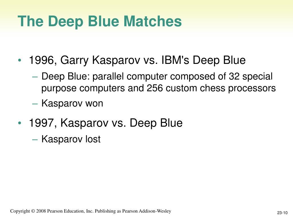 The Deep Blue Matches