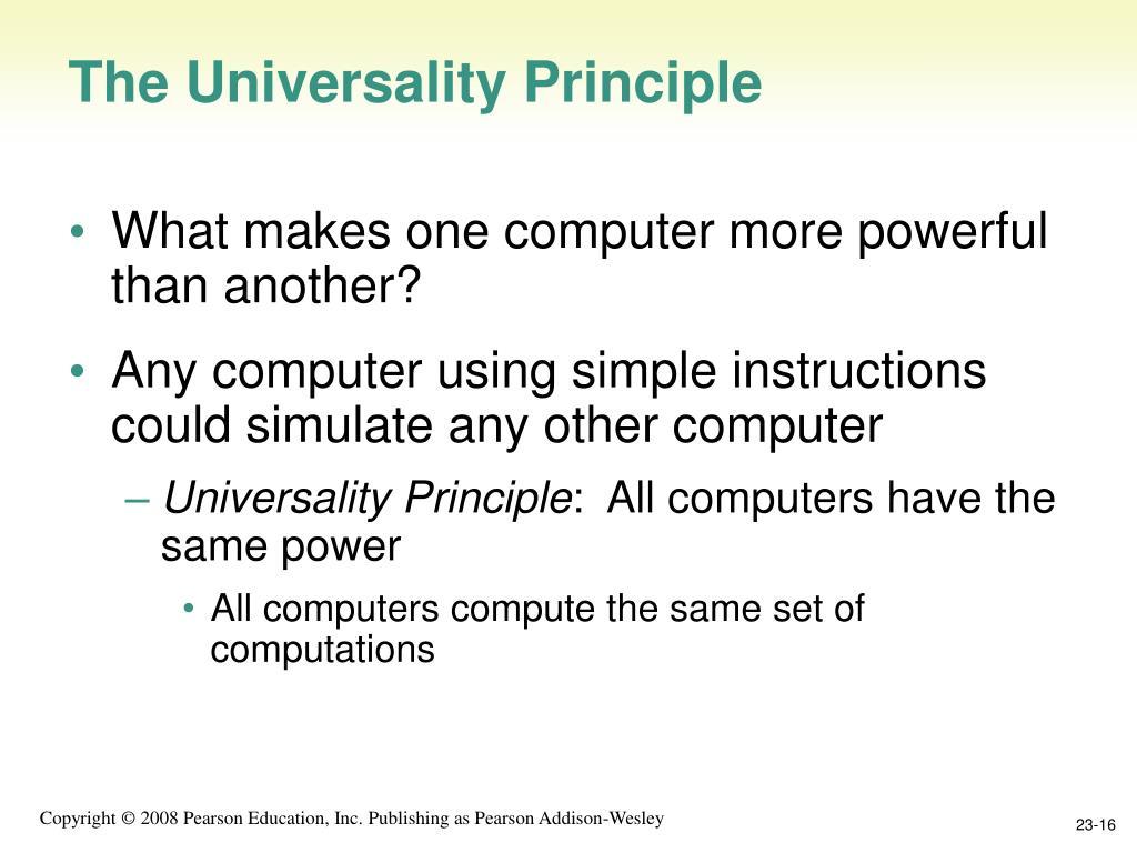 The Universality Principle