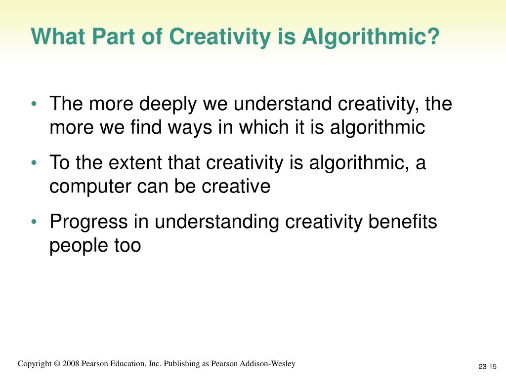 What Part of Creativity is Algorithmic?