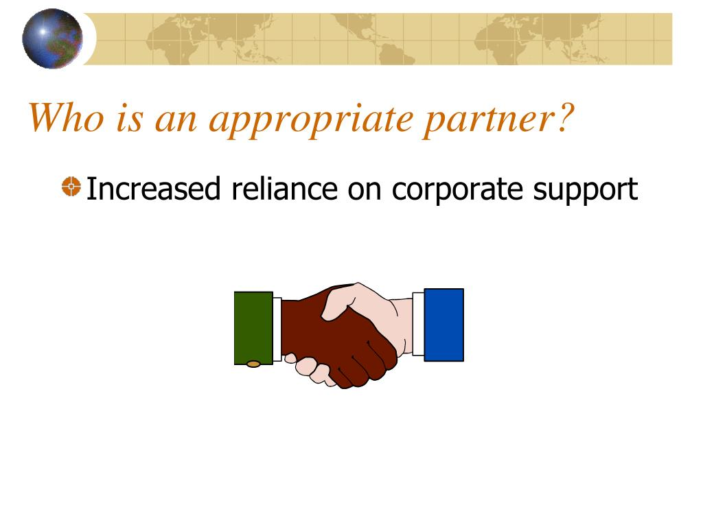 Who is an appropriate partner?