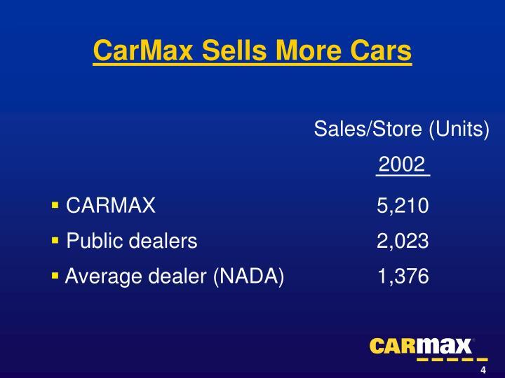 CarMax Sells More Cars