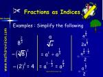 fractions as indices22